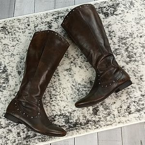 Born studded leather riding boots